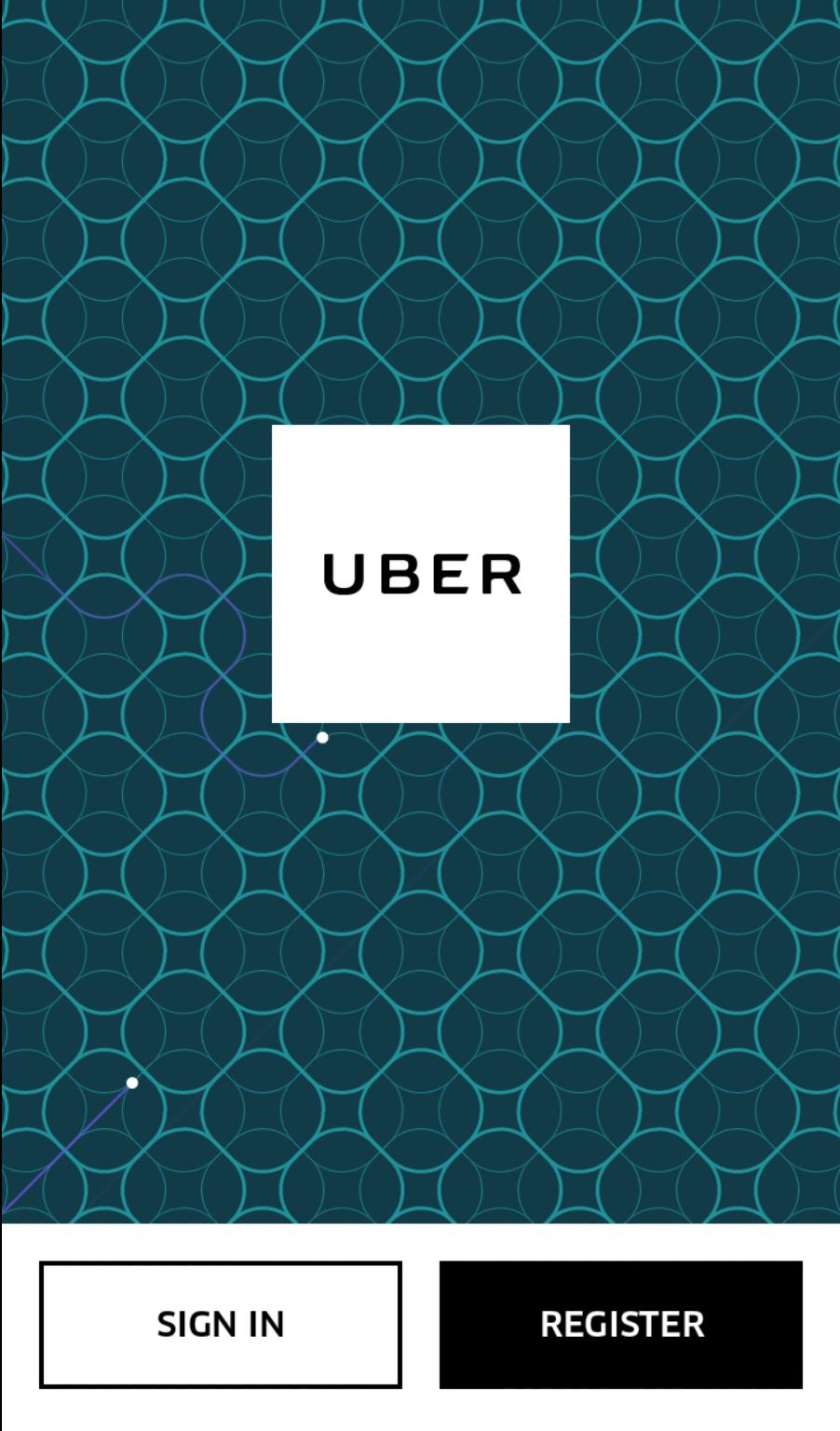 Uber Login-Page