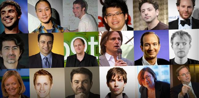 Internet entrepreneurs and millionaires and billionaires